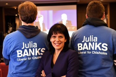 Julia Banks will not contest her marginal Victorian seat in protest at the dumping of Malcolm Turnbull.