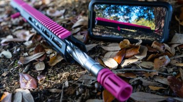 """Bear Creek Arsenal in the US is selling rifle """"uppers"""" in hot pink for Breast Cancer Awareness month this October."""