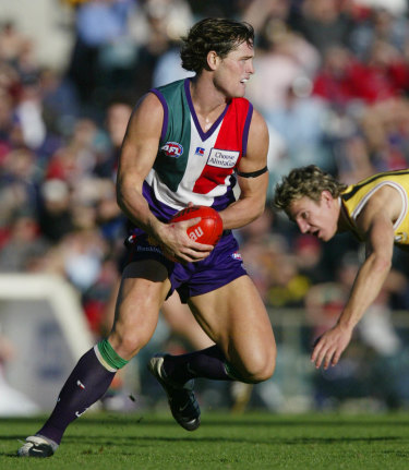 Trent Croad, playing for Fremantle.