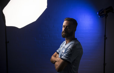 True blue: Sydney FC captain Alex Brosque.