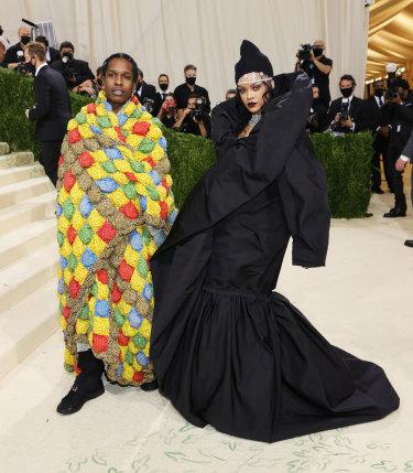 A$AP Rocky and Rihanna.