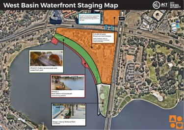 Staging map for West Basin