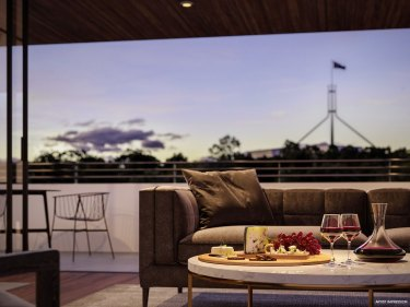 Residents in the Estate apartment complex will have prime views of Parliament House