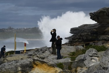 Maroubra, in Sydney's east, copped a large swell, as did most of the coast down to the Victorian border.