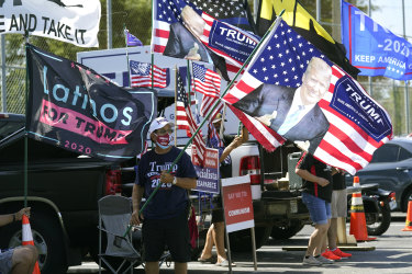 Florida's Cuban American voters rally for Trump in late October.