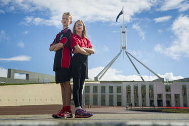 Nia and Iolo will skip school on November 28 to protest against government inaction against climate change.