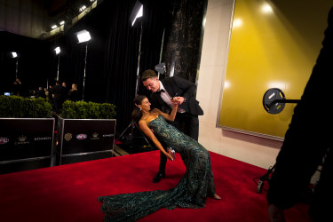 Patrick Cripps and Monnique Fontana at the Brownlow.