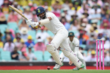 Class above: Cheteshwar Pujara on the way to his third century of the series.