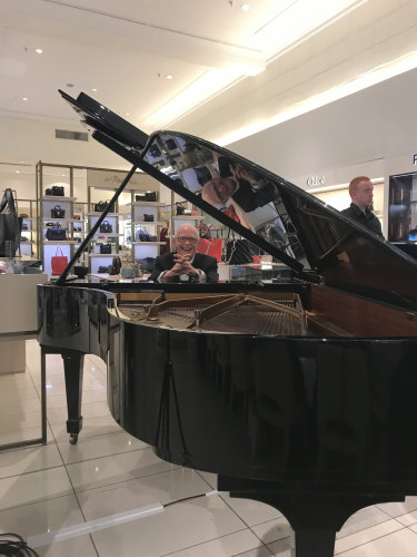 David Jones' pianist Michael Hope survives the latest revamp of Sydney's premier department store.
