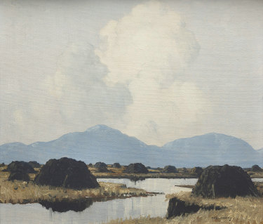 Paul Henry's painting Turf Stacks at Connemara.