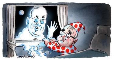 Former Labor minister Eddie Obeid may still be lingering. Illustration: John Shakespeare