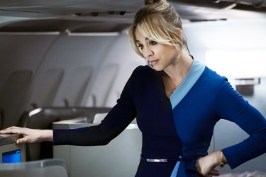 Kaley Cuoco is the executive producer and star of <i>The Flight Attendant</i>.