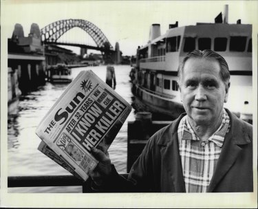 Newspaper seller Roy Sheppard sold The Sun at Circular Quay for 55 years.