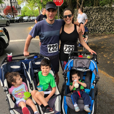 Michael Zelin and wife Lauren Zelin with their children days before Michael Zelin visited the emergency room for soreness in his arm.
