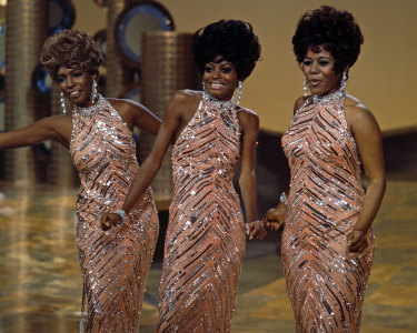 Mary Wilson of The Supremes (right) with, from left, group mates Cindy Birdsong (who replaced original member Florence Ballard) and Diana Ross, in a live concert in 1965.
