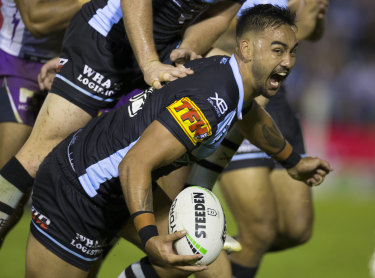Hot property: Boom Cronulla back-rower Briton Nikora.