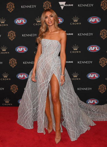 Nadia Bartel is hosting the Brownlow red carpet arrivals for Channel Seven.