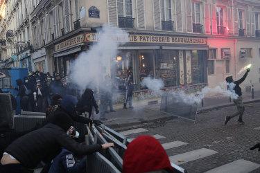 Protests against police brutality sparked violent demonstrations in Paris.