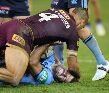 Niggle: Will Chambers was one of the chief antagonists for the Maroons in Origin I.
