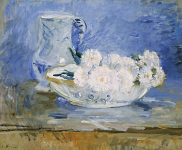 Berthe Morisot, White flowers in a bowl,1885, oil on canvas.