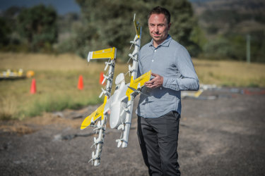 Wing chief executive James Ryan Burgess last week unveiled the company's new 'quiet' drone