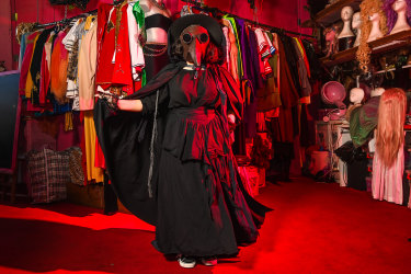 The Plague Doctor, one of the most popular costumes this Halloween season at Rose Chong Costumes in Melbourne.
