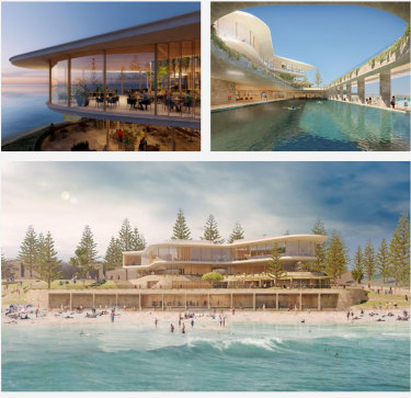 """The design by Kerry Hill Architects, called """"a form shaped by ocean forces""""."""