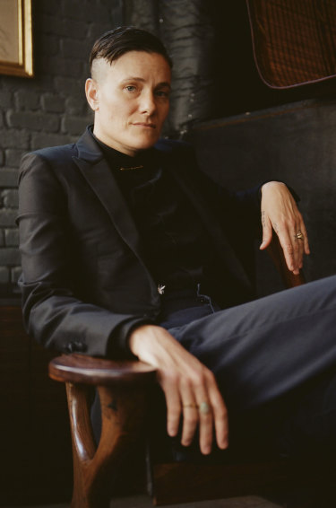 Normally shy and wary of interviews: Casey Legler at La Mercerie in New York.