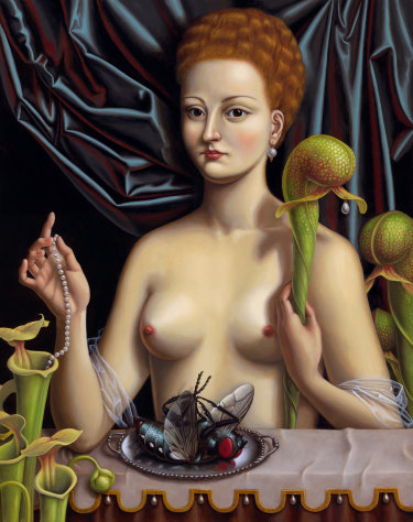 Painting by Madeline von Foerster, My Darlingtonia, 2009, oil and egg tempera on panel