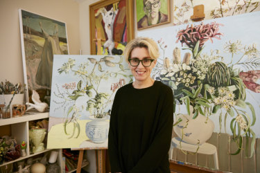 Artist Jane Guthleben, painted Dutch Still Life with Black Cockatoos, which is on the cover of Spectrum's 2020 spring issue. She has just been announced as a finalist in this year's Archibald prize for a painting of Annabel Crabb called Annabel, the baker.