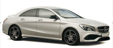 Police have released this image of a Mercedes, similar to the one that was stolen.