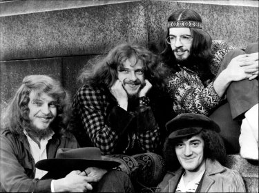 Martin Barre, left, with members of Jethro Tull in happier times.