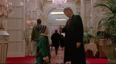Trump appears alongside McCaulay Culkin in Home Alone 2: Lost in New York.