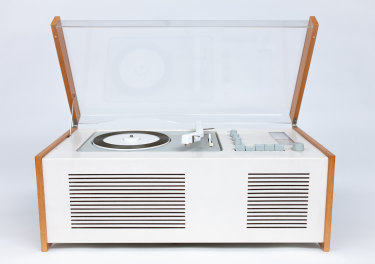 A record player designed by 'Mr Braun'.
