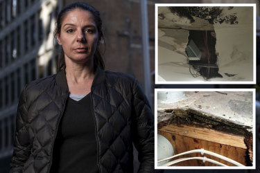 Nadia Younan was forced out of an abandoned apartment complex at Zetland.