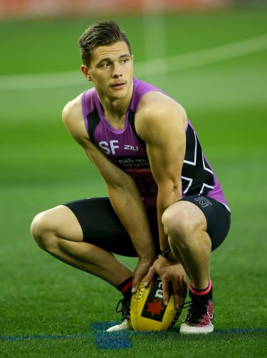 Ben Ainsworth during the 2016 AFL Draft Combine at Etihad Stadium.