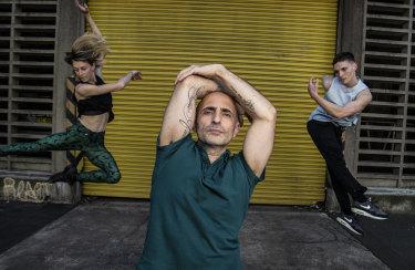 Rafael Bonachela, with dancers Juliette Barton and Riley Fitzgerald.