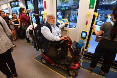 James Carter was trapped for about an hour on the 96 tram.