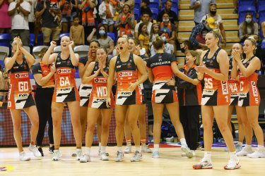 Frustration: Netball Australia fears the Swans Giants AFL final will lure eyeballs away from the Swifts-Giants netball decider.