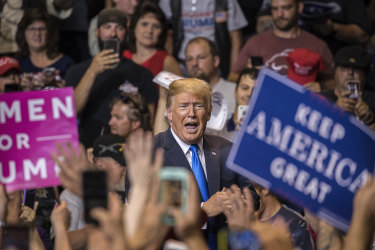 President Trump at a rally in Pennysylvania earlier this week.