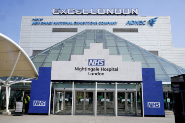 The NHS Nightingale Hospital at the ExCel Centre in London.