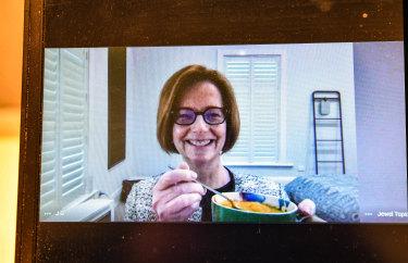 Julia Gillard with her home-made pumpkin soup.