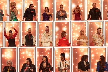 The judges on All Together Now dance and sing when a contestant inspires them.