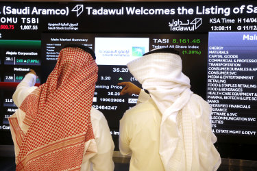 Slumping oil prices have left Saudi Aramco  unable to generate enough cash to fund shareholder payouts it's promised will reach $US75 billion.this year.