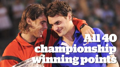 Nadal and Federer: All 40 championship winning points