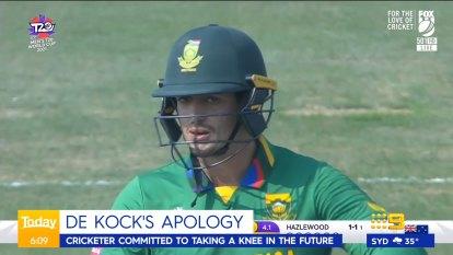 South African star Quentin De Kock has spoken up after controversially refusing to take the knee