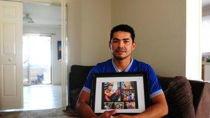 Canberra man German Zamora reunites with his family in El Salvador