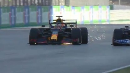 Verstappen loses cool after crash with Stroll