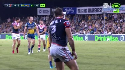 Parramatta had several attacking chances, but were unable to find their rhythm in the 28-0 loss. The tri-colours made amends for an error-riddled first half with a blistering attacking run. James Tedesco, Joseph Manu and young-gun Sam Walker were among the stars for Trent Robinson's side at BB Print Stadium, Mackay.
