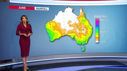 Australia's weather in June - rain